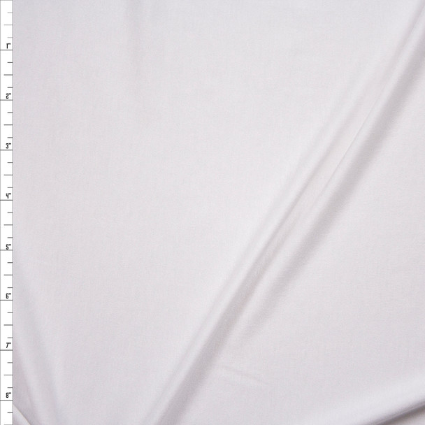 White Rayon/Spandex Lightweight Stretch Jersey Knit Fabric By The Yard