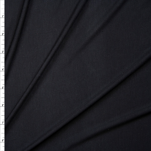 Black Lightweight Stretch Modal Jersey Knit Fabric By The Yard