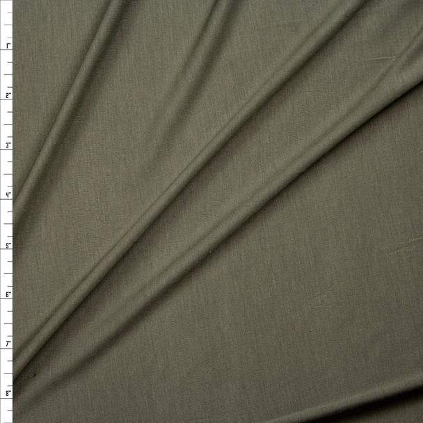 Olive Green Lightweight Stretch Modal Jersey Knit Fabric By The Yard