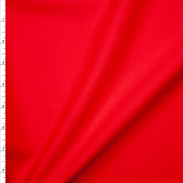 Bright Red Heavyweight Stretch Ponte De Roma Fabric By The Yard