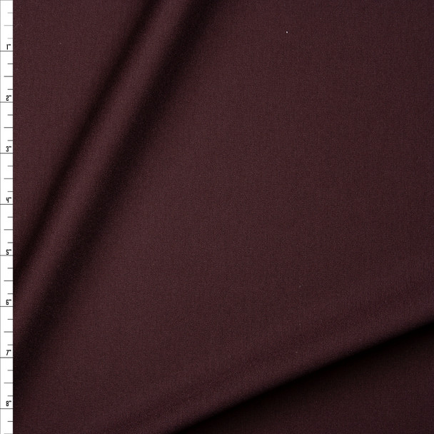 Dark Brown Heavyweight Stretch Ponte De Roma Fabric By The Yard