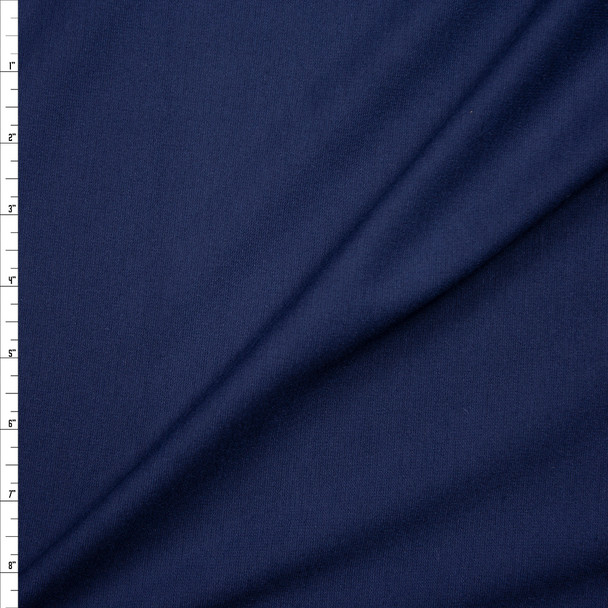 Navy Blue Midweight Stretch Ponte De Roma Fabric By The Yard