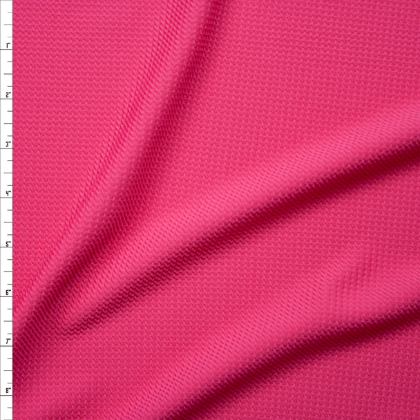 Solid Bright Pink Bullet Liverpool Knit Fabric By The Yard