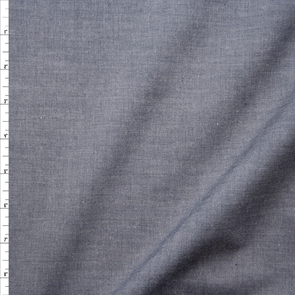 Slate Lightweight Cotton Chambray Fabric By The Yard
