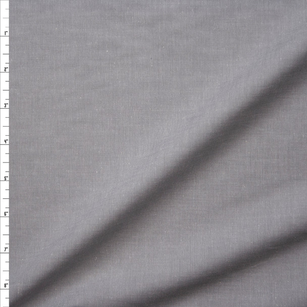 Light Grey Lightweight Cotton Chambray Fabric By The Yard