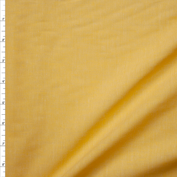 Yellow Lightweight Cotton Chambray Fabric By The Yard