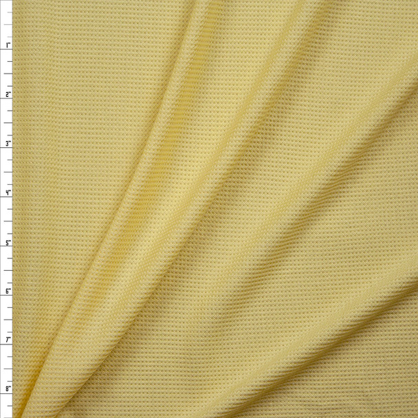 Butter Yellow Rayon Micro Waffle Knit Fabric By The Yard