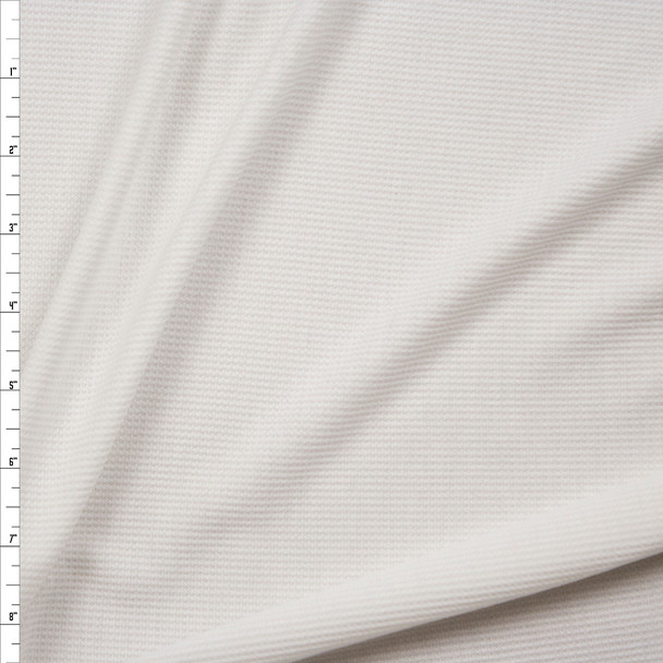 White Rayon Micro Waffle Knit Fabric By The Yard