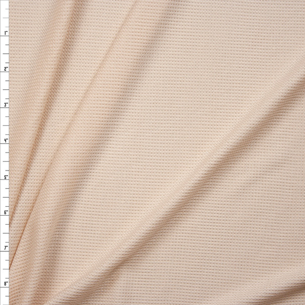 Vanilla Rayon Micro Waffle Knit Fabric By The Yard