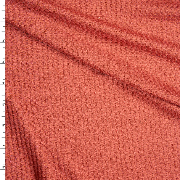 Terracotta Soft Waffle Sweater Knit Fabric By The Yard