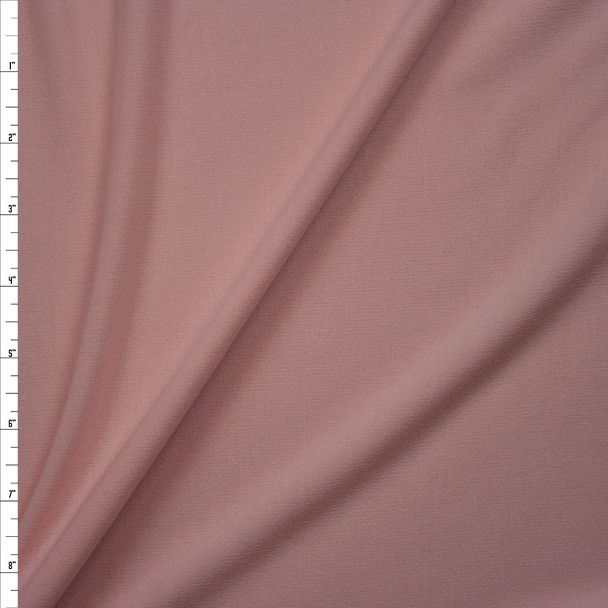 Blush Pink Poly/Rayon French Terry Fabric By The Yard