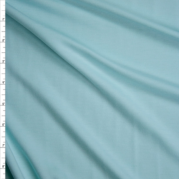 Mint Green Poly/Rayon French Terry Fabric By The Yard