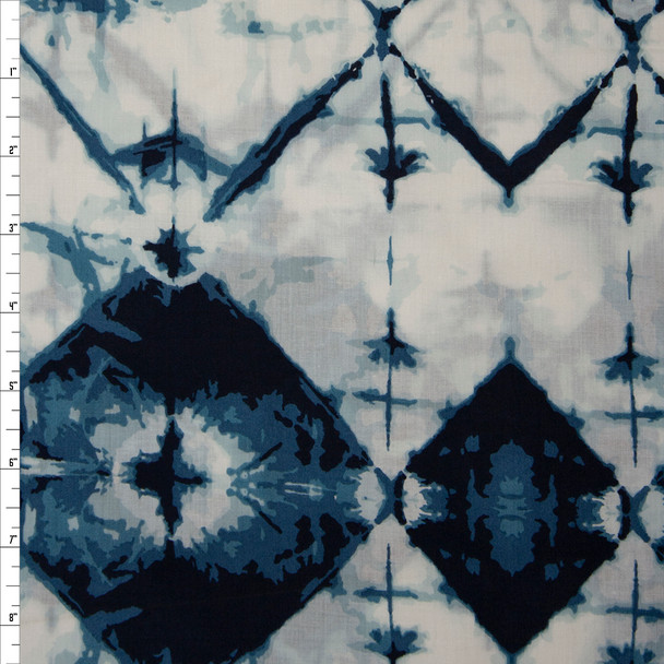 """Indigo Widow Crystal"" Cotton Lawn Print from Art Gallery Fabrics Fabric By The Yard"