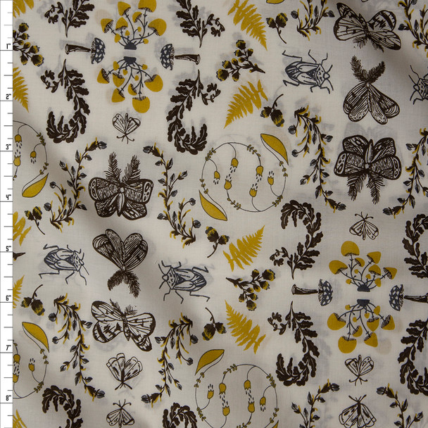 """Nature Study Bark"" Cotton Lawn Print from Art Gallery Fabrics Fabric By The Yard"