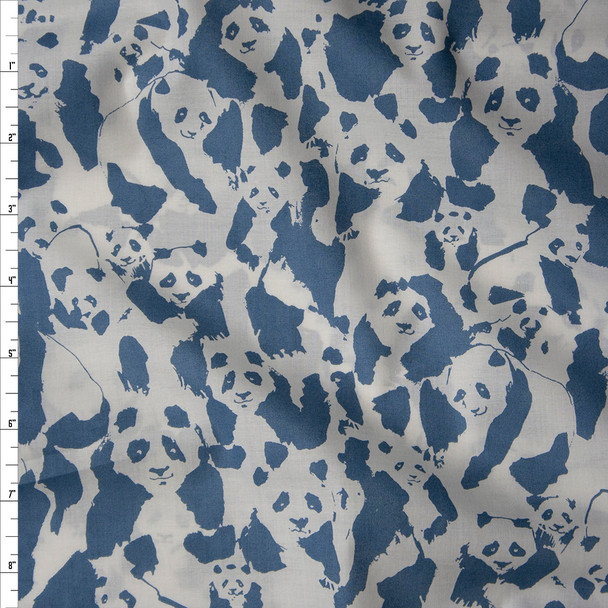 """Pandalings Pod Night"" Cotton Lawn Print from Art Gallery Fabrics Fabric By The Yard"