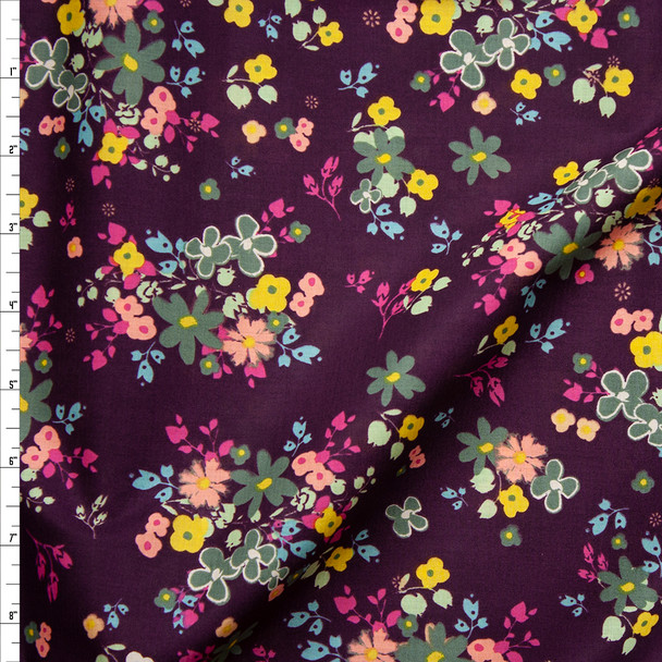 """""""Blooming Soul Plum"""" Cotton Lawn Print from Art Gallery Fabrics Fabric By The Yard"""