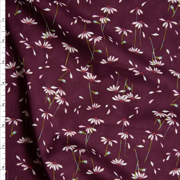 """""""He Loves Me Plum"""" Cotton Lawn Print from Art Gallery Fabrics Fabric By The Yard"""