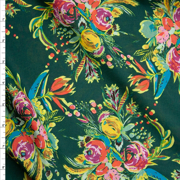 "'Coquet Bouquet"" Cotton Lawn Print from Art Gallery Fabrics Fabric By The Yard"