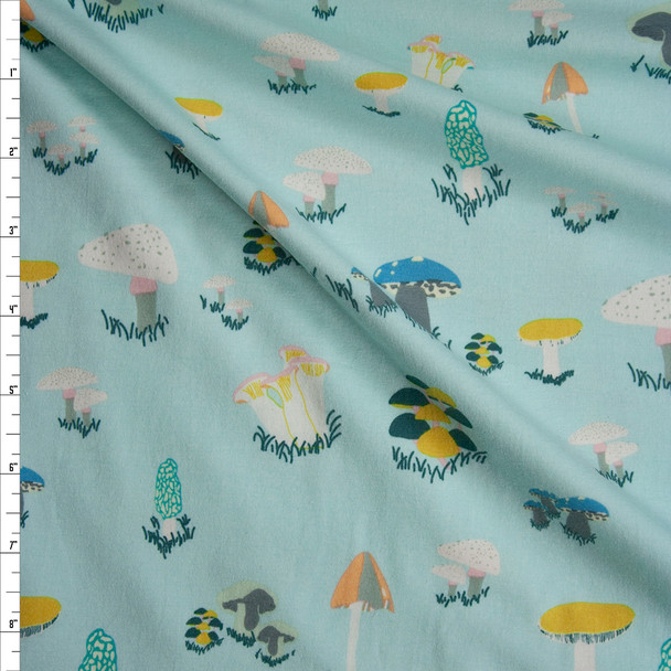 """Agaricus Forest Water"" Cotton Spandex Knit from Art Gallery Fabrics Fabric By The Yard"