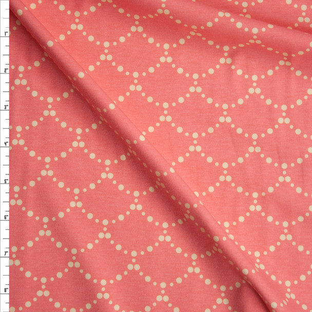 """Ripples Rose"" Cotton Spandex Knit from Art Gallery Fabrics Fabric By The Yard"