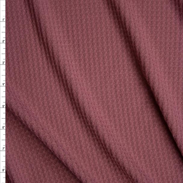 Mauve Soft Waffle Knit Fabric By The Yard