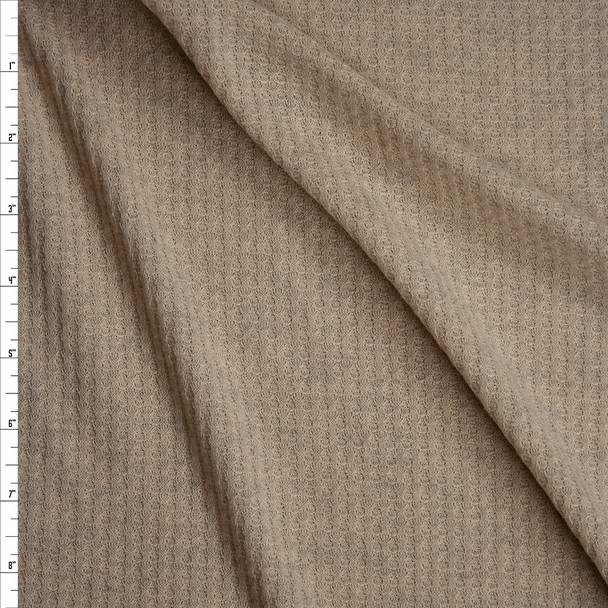 Oatmeal Soft Waffle Knit Fabric By The Yard
