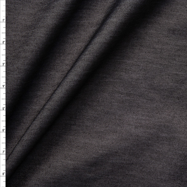 Black Designer Tencel Denim Fabric By The Yard