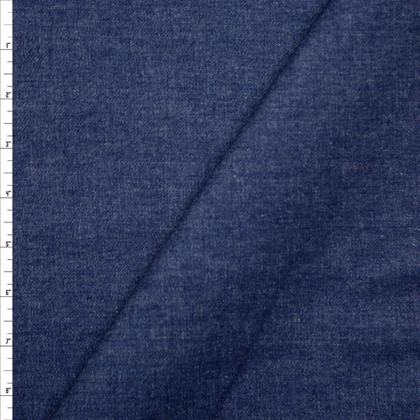 Blue Midweight Denim Fabric By The Yard