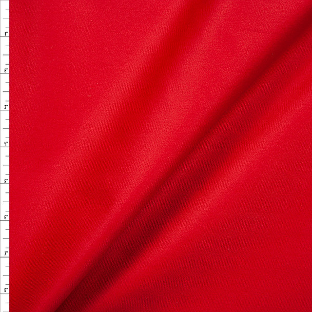 Red Midweight Stretch Twill Fabric By The Yard