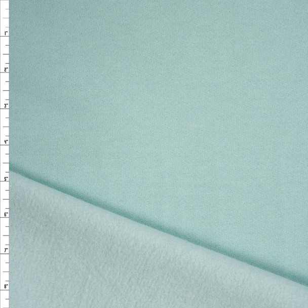 Mint Green Soft Midweight Sweatshirt Fleece Fabric By The Yard