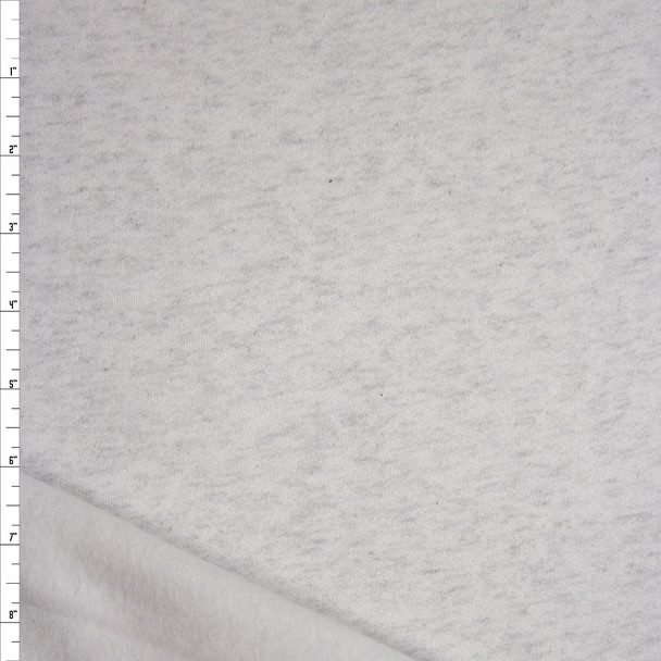 Ash Grey Light Midweight Sweatshirt Fleece Fabric By The Yard