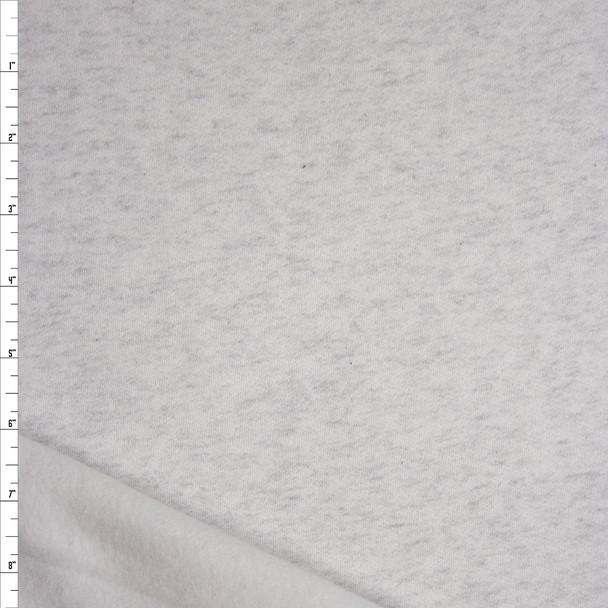 Ash Grey Light Midweight Sweatshirt Fleece Fabric By The Yard