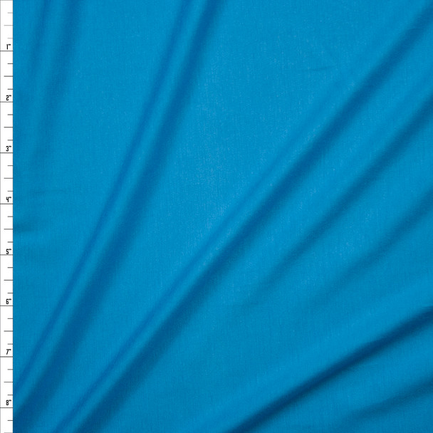 Turquoise Stretch Tencel Jersey Knit Fabric By The Yard