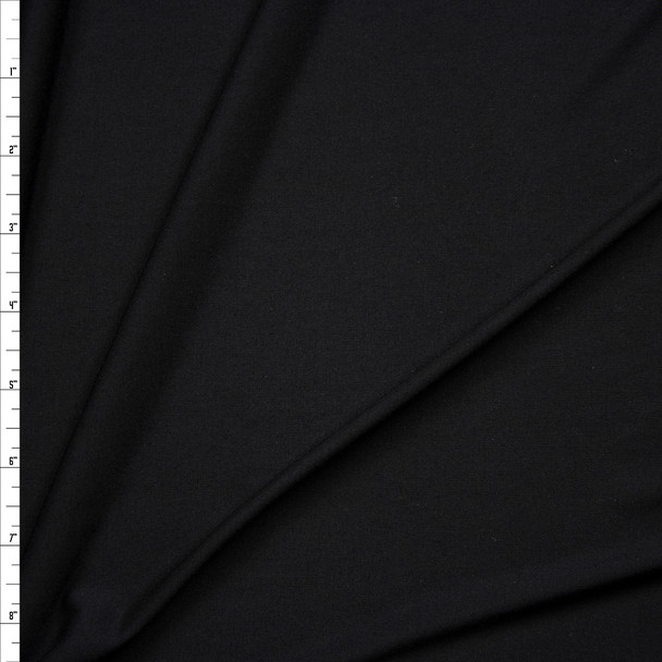 Black Lightweight Soft Stretch Jersey Knit  Fabric By The Yard