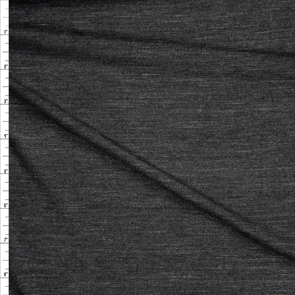 Charcoal Grey Stretch Modal Jersey Knit Fabric By The Yard