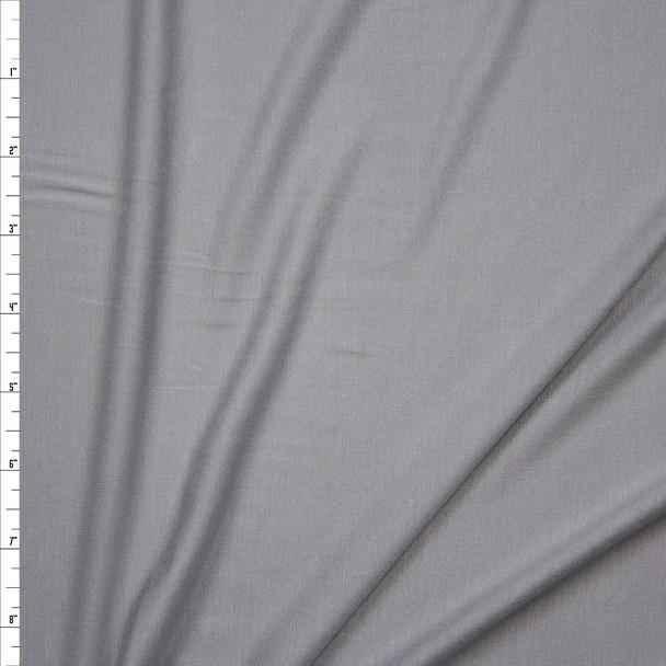 Light Grey Stretch Modal Jersey Knit Fabric By The Yard