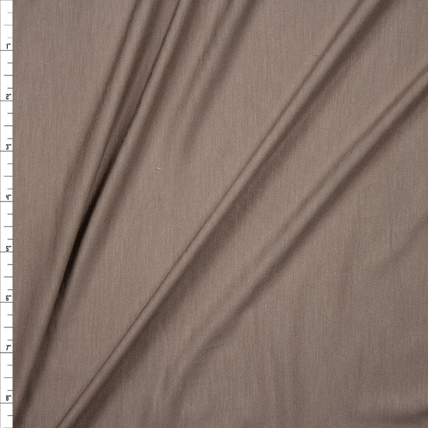 Taupe Stretch Modal Jersey Knit Fabric By The Yard