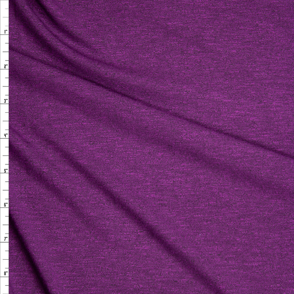 Deep Purple Stretch Modal Jersey Knit Fabric By The Yard