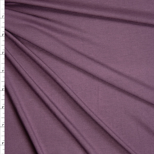 Dusty Plum Stretch Modal Jersey Knit Fabric By The Yard