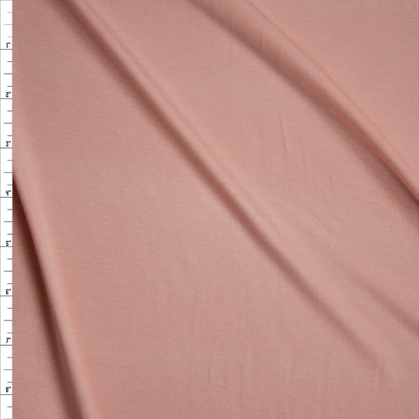 Peach Stretch Modal Jersey Knit Fabric By The Yard