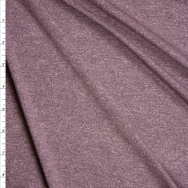 Pink Grey Heather Stretch Modal Jersey Knit Fabric By The Yard