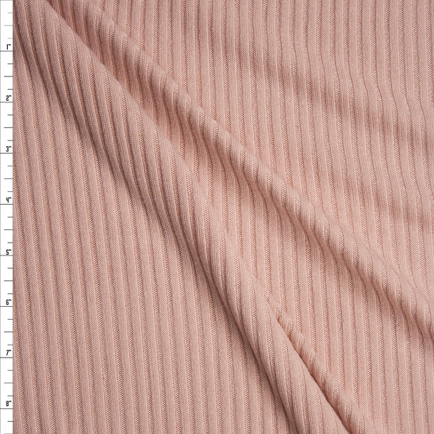 Blush Soft Midweight Ribbed Sweater Knit Fabric By The Yard