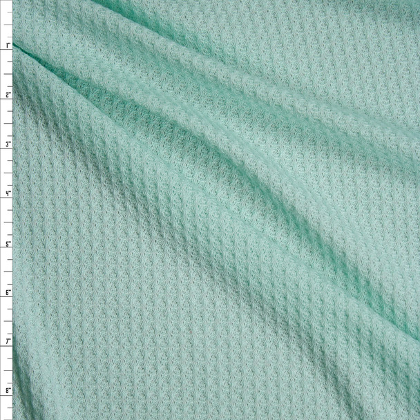 Mint Green Soft Waffle Knit Fabric By The Yard