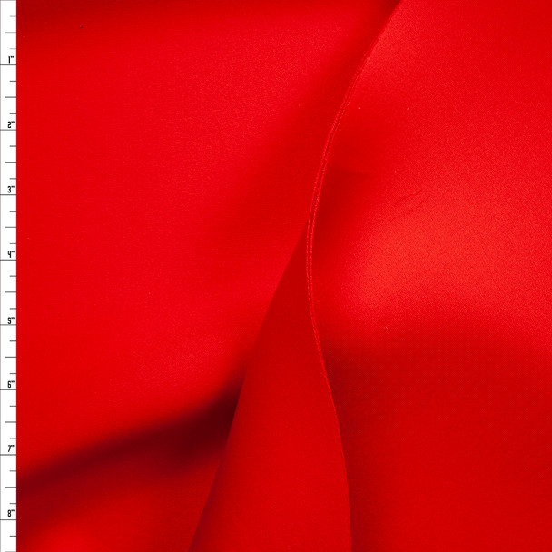 Red Stretch Double Scuba Knit Fabric By The Yard