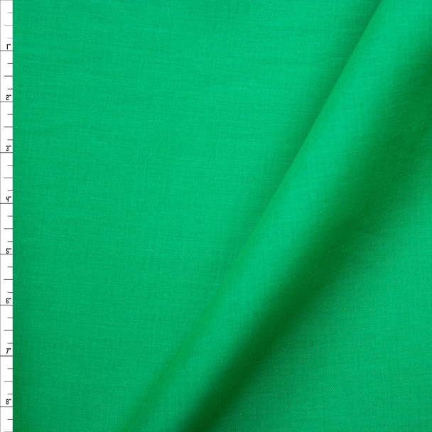 Kelly Green Midweight Linen Fabric By The Yard