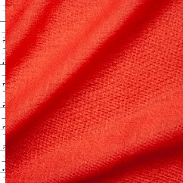 Burnt Orange Lightweight Linen Fabric By The Yard