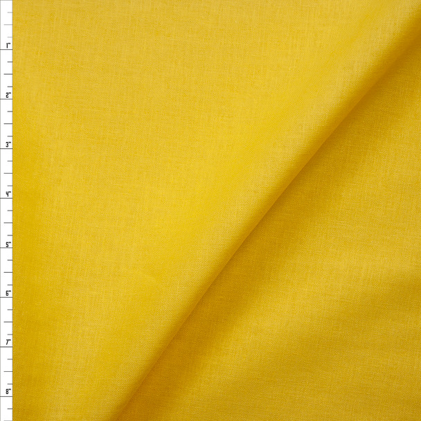Sunshine Yellow Midweight Rayon/Linen Blend Fabric By The Yard
