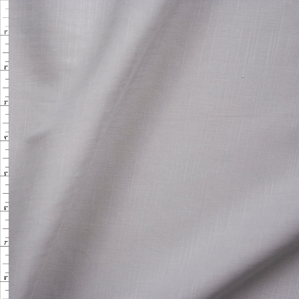 Warm Light Grey Midweight Rayon/Linen Blend Fabric By The Yard