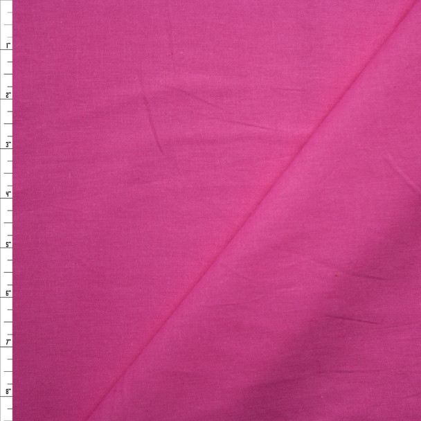 Bright Pink Midweight Rayon/Linen Blend Fabric By The Yard