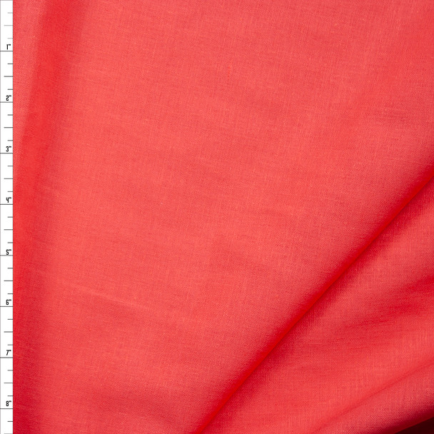 Bright Coral Midweight Rayon/Linen Blend Fabric By The Yard